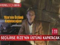 Rize'nin Üstünü Kapatacağını Vadeden Belediye Başkan Adayı