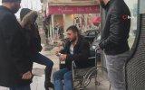 Zabıtayı Gören Dilencinin Tekerlekli Sandalyeden Kalkıp Kaçması