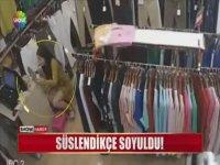 Mağaza Sahibi Kadının Süslendikçe Soyulması