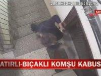 Komşusunun Kapısına Satırla Saldıran Öfkeli Kadın
