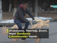 22 Bin Dondurma Çubuğundan Ejderha Şeklinde Bisiklet Yapmak