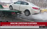 Arabasını Çekicinin Üzerinden Uçurarak Kaçıran Rus