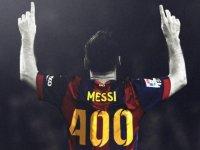 Messi'nin La Liga'daki 400. Gölünü Atması