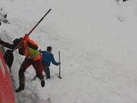 Trenin Püskürttüğü Karların Altında Kalan Dağ Keçisi