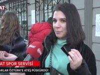 Hakem Ümit Öztürk'e İsyan Eden Trabzonsporlu Kadın Taraftar