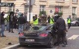 Porsche ve Ferrari'ye Acımayan Sarı Yelekliler