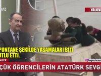 Küçük Öğrencilerin Atatürk Büstünü Doyasıya Öpmesi