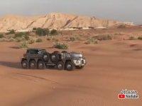 Arap Şeyhinin 10 Tekerlekli Devasa Arazi Aracı