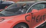 Aldatılmanın İntikamını Sevgilisinin Bugatti'sinden Alan Hatun