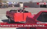 Yarım Tofaş'tan Üstü Açık Römork Yapan Kayserili