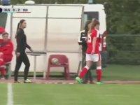 Maçta Tekme Tokat Kavga Eden Kadın Futbolcular