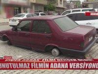 Adana'da 4 Lastiği Birden Çalınan Tofaş