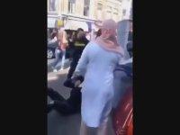 Hollanda Polisinin Başörtülü Kadına Tekme Tokat Saldırması