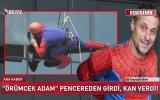 Pencereden Girip Kan Veren Örümcek Adam