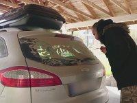 Tozlu Araba Camını Tabloya Dönüştürmek