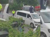 Aracının Üstünde Otoparka Götürülen Uber Sürücüsü