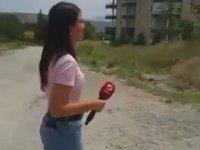 Beyaz TV Muhabirini Ters Köşeye Yatıran Kadın