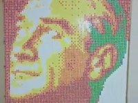 Rubik Küp ile Atatürk Portresi