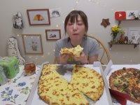 Tek Oturuşta 6000 Kalorilik Pizza Yiyen Asyalı Kız