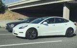 Tesla Aracın Direksiyonunda Uyuyan Sürücü