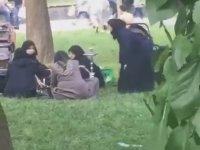 Suriyeli Kadınların Millet Bahçesinde Nargile Keyfi