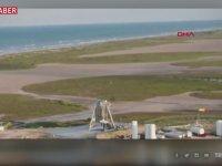 SpaceX'in Uzay Aracının Kalkış Sırasında Alev Alması