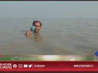 Sel Sularının İçinde Haber Sunan Muhabir