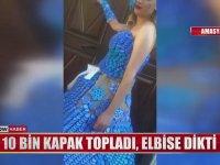10 Bin Mavi Kapakla Elbise Yapan Amasyalı Kadın