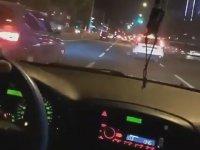 Makas Atarken Kaza Yapan Sürücü