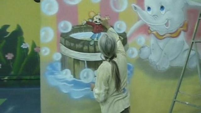 Aliş Veriş Merkezi Duvar Ressamı Real alışveriş merkezleri