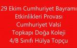 Topkapı Doğa Koleji 29 Ekim Cumhuriyet Valsi Cumhuriyet Bayramı 4-B Sınıfı Hülya Topçu