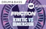 Friction vs Dimension - Kinetic