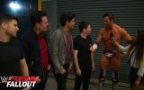 Zack Ryder celebrates with the cast of Entourage: Raw Fallout, May 25, 2015