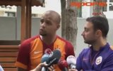 Felipe Melo'nun Yorumcuları Taklit Etmesi