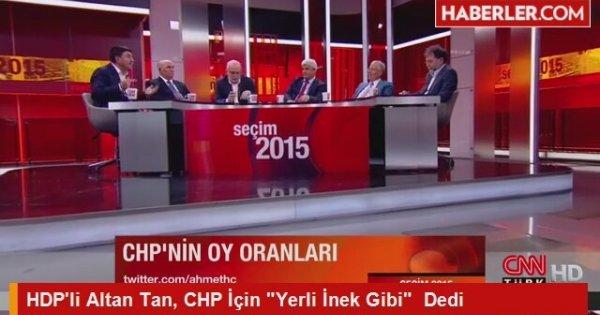 """HDP'li Altan Tan, CHP İçin """"Yerli İnek Gibi""""  Dedi"""