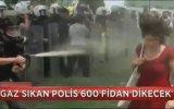 Kırmızılı Kadın'a Gaz Sıkan Polise 600 Fidan Dikme Cezası