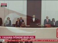Meclis'te HDP'lilerin İstiklal Marşı'nı Okumaması