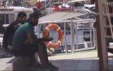 Jet Ski ile Yunanistan'a  kaçmaya çalışan Suriyeliler