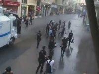 Polislere Su Sıkan Toma