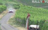 Traktöre Çarpmaktan Son Anda Kurtulan Ralli Pilotu