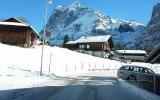 İsviçre Grindelwald'da Kış Araç Kamerasın'dan