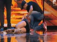 Rumen X-Factor'unda Bayılan Kadın Yarışmacı