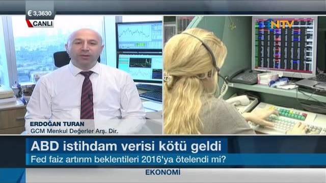 05.10.2015 - NTV - Ekonomi Notları - GCM Menkul Kıymetler Araştırma Direktörü Erdoğan Turan