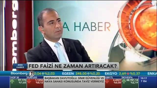 07.10.2015 - Bloomberg HT - Ana Haber - GCM Menkul Kıymetler Araştırma Direktörü Erdoğan Turan