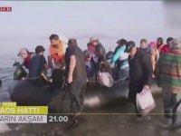 TRT Ekibinin Mülteci Botuyla Yunanistan'a Kaçak Gitmesi