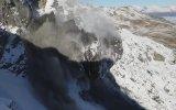 Çığ Başlangıcını Kamera ile Yakalamayı Başaran Jeolog