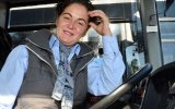 Belediye Otobüsünde Kadın Şoför