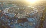 Apple'ın Devasa Yeni Merkezi Campus'ün İnşaatı Drone ile Görüntülenmesi