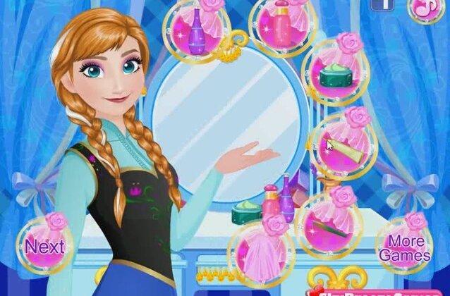Frozen princess anna dress up anna wedding prep disney frozen games