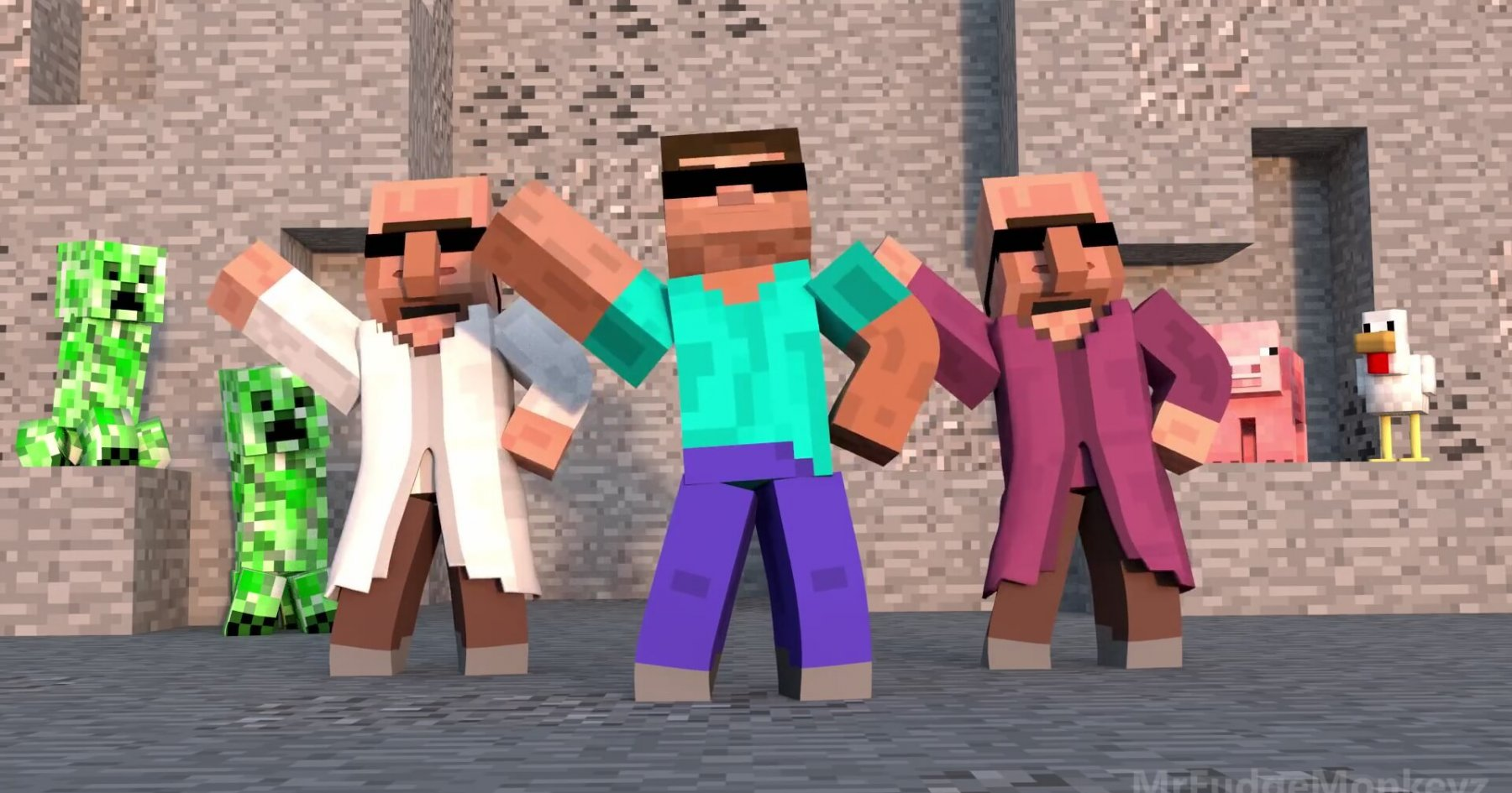 B Monkey Film Annoying Villagers 8 -...